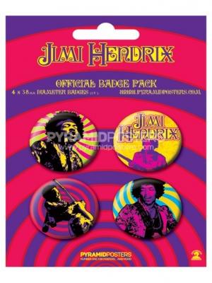 odznaky - Jimi Hendrix - BP80150 - Pyramid Posters
