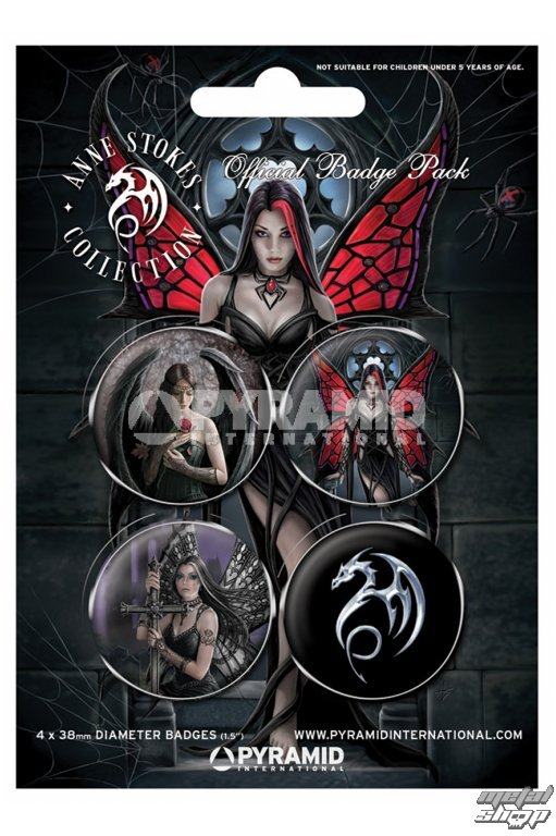 odznaky Anne Stokes (Gothic) - PYRAMID Posters - BP80361