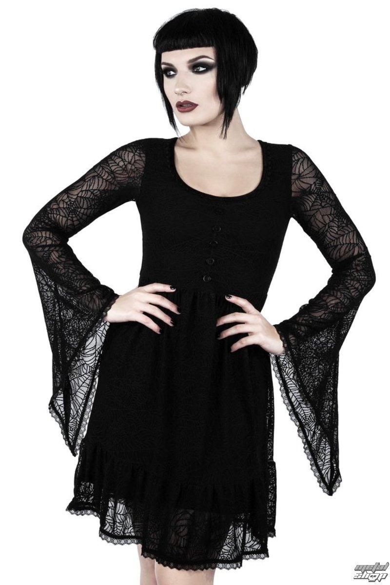 šaty dámske KILLSTAR - CASKET CUTIE WEB - BLACK - K-DRS-F-2811