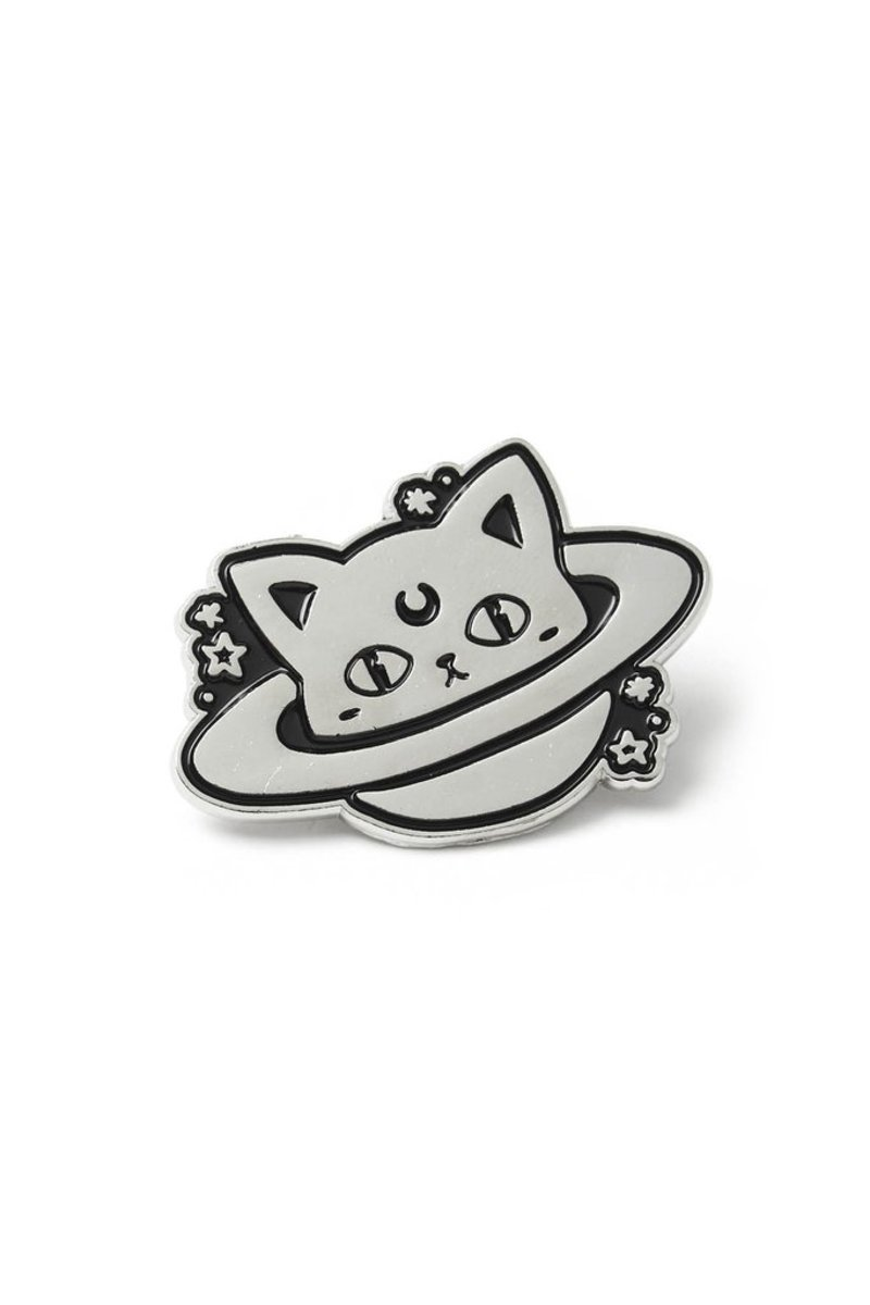 pripináčik KILLSTAR - CAT PLANET - BLACK - K-PIN-U-3040