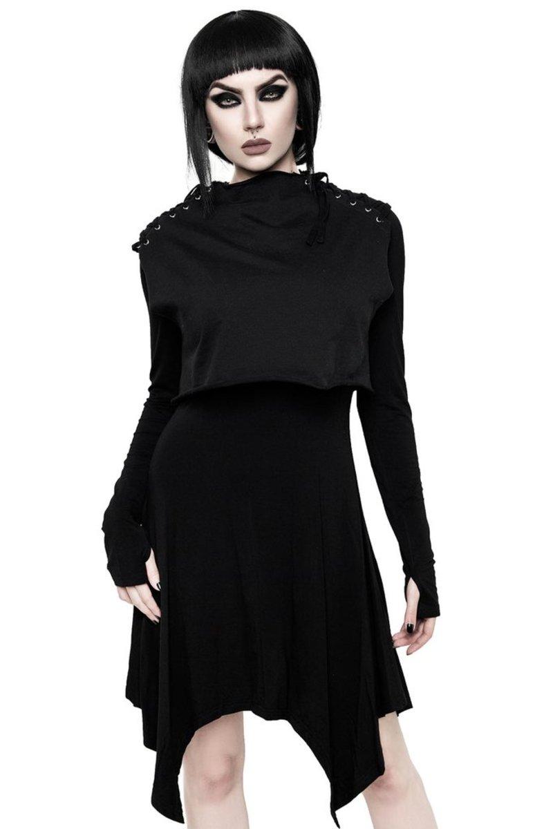 šaty dámske KILLSTAR - Chalice - BLACK - KSRA000637