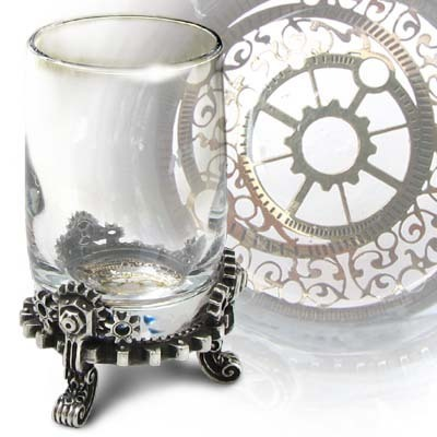 panák Gears of Progress Shot Glass ALCHEMY GOTHIC - CWT45