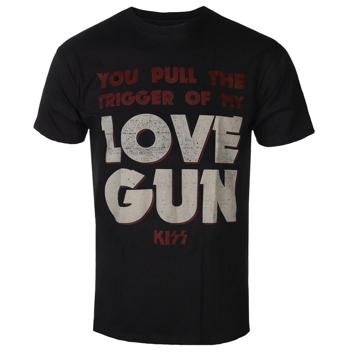 tričko pánske Kiss - Pull The Trigger - ROCK OFF - KISSTS02MB