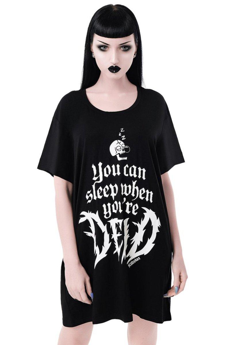 tričko dámske (pyžamo) KILLSTAR - Dead Sleepy - BLACK - KSRA001907