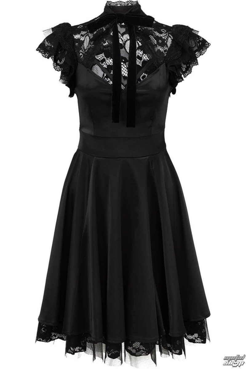 šaty dámske KILLSTAR - DEAR DARKENESS - BLACK - K-DRS-F-2898