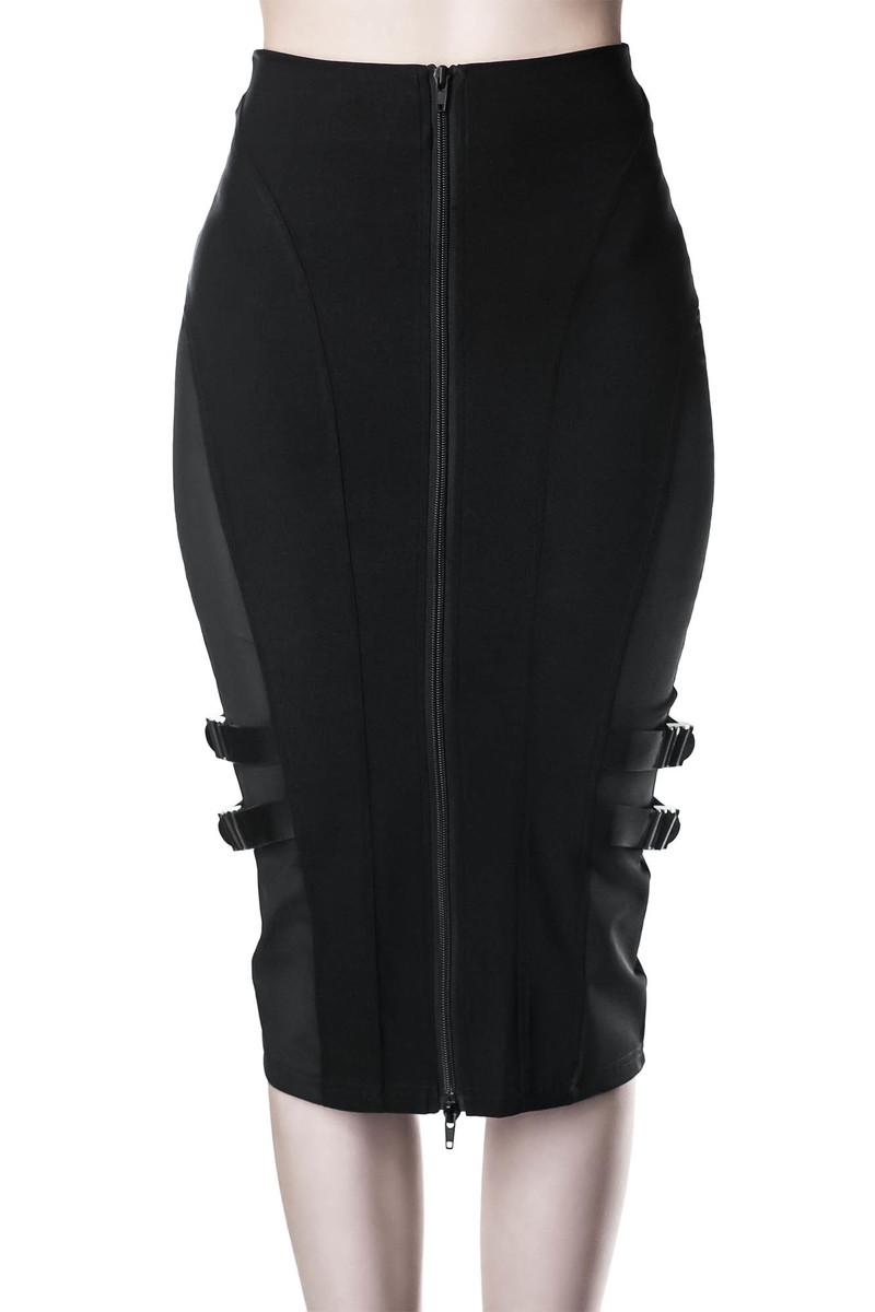 sukňa dámska KILLSTAR - Decibel Midi - BLACK - KSRA001648