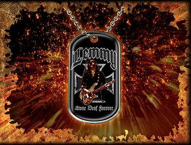 """obojok """"psia známka"""" Lemmy Kilmister (Motörhead) - Stone Deaf Forever - RAZAMATAZ"""