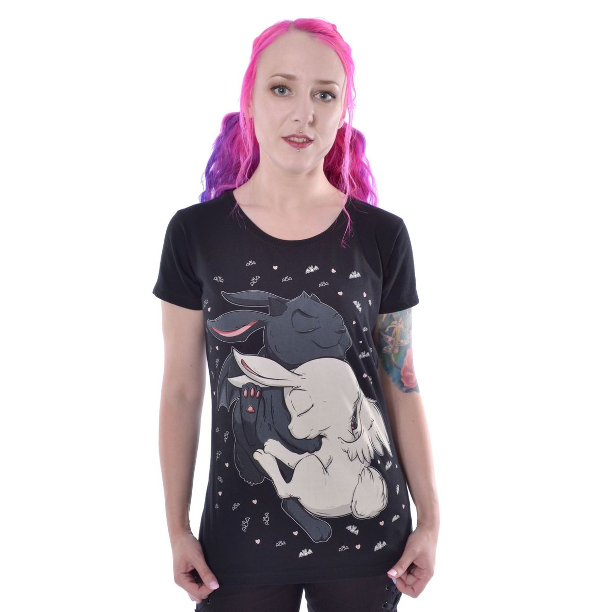 tričko dámske Cupcake cult - DREAM BUNNY - BLACK - POI785