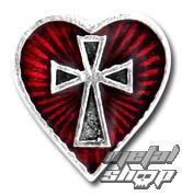náušnice Sacred Heart (Stud) ALCHEMY GOTHIC - E262