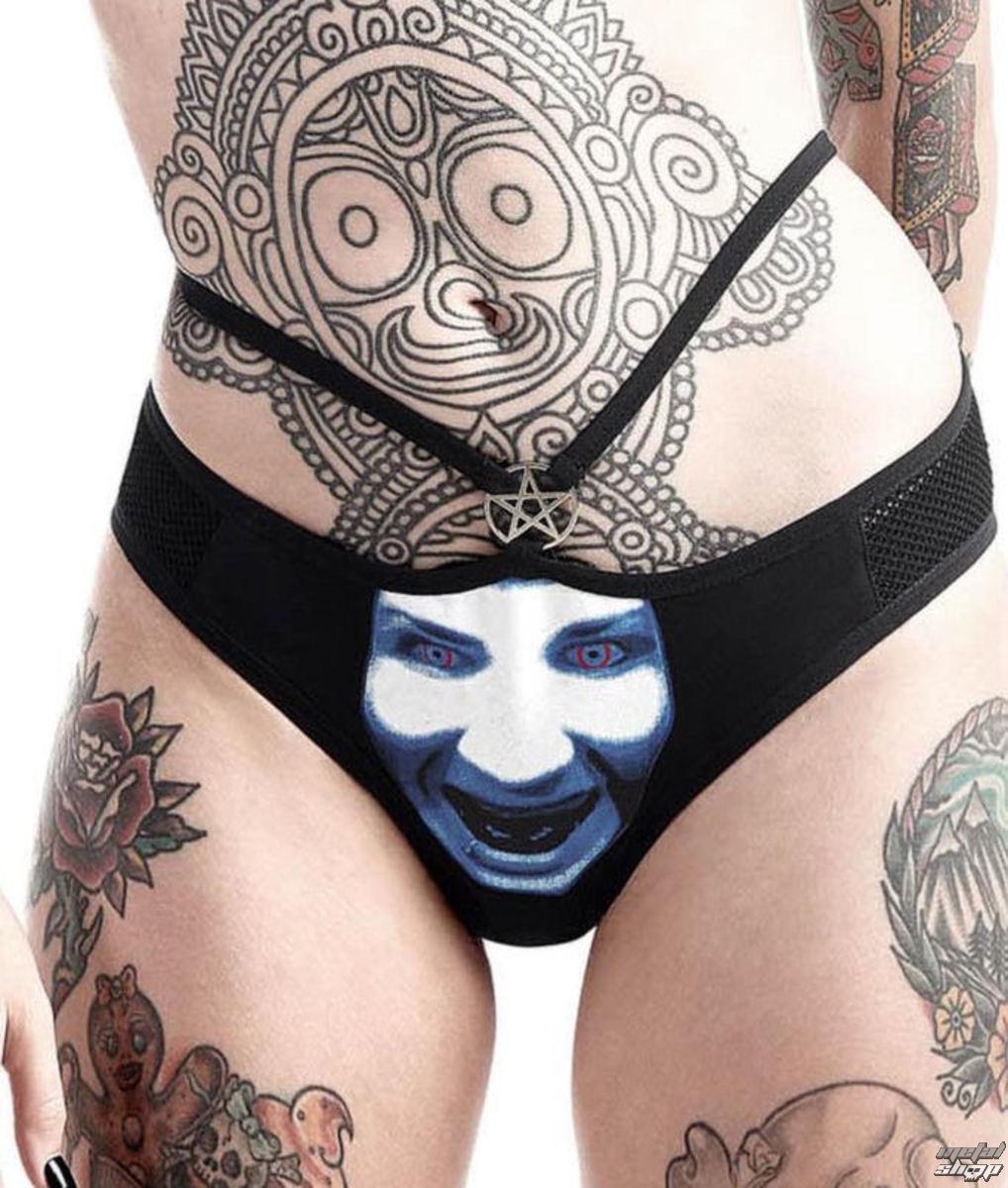 nohavičky dámske KILLSTAR - Marilyn Manson - God of Fuck - Black - K-UND-F-2492