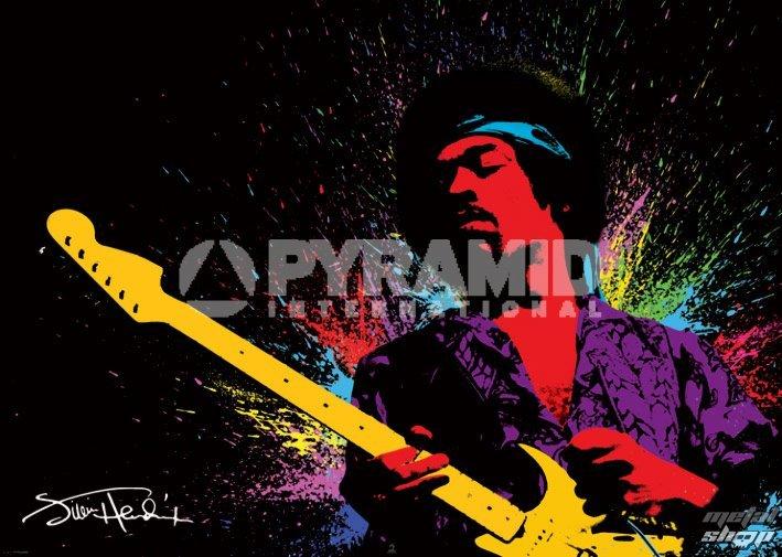 plagát Jimi Hendrix (Paint) - PYRAMID POSTERS - GPP51040