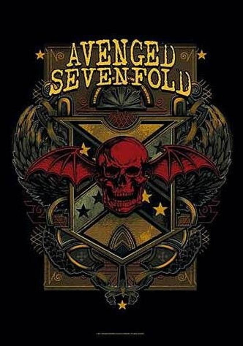 vlajka Avenged Sevenfold - Death Crest - HFL1065