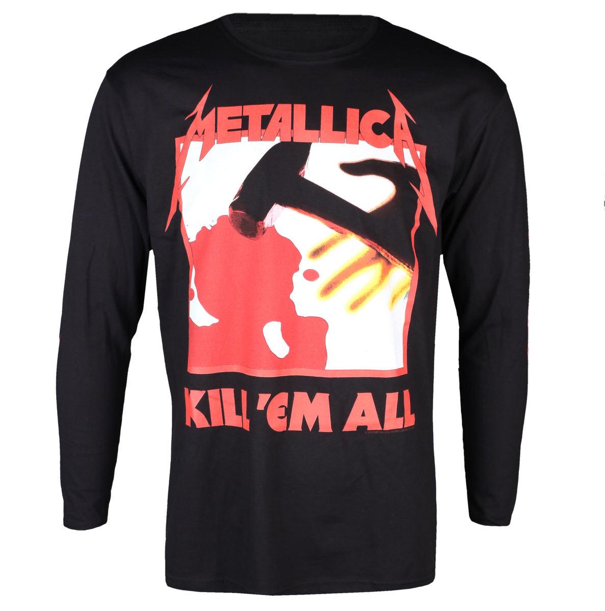 tričko pánske s dlhým rukávom Metallica - Kill Em All - Black - RTMTL LSBKIL