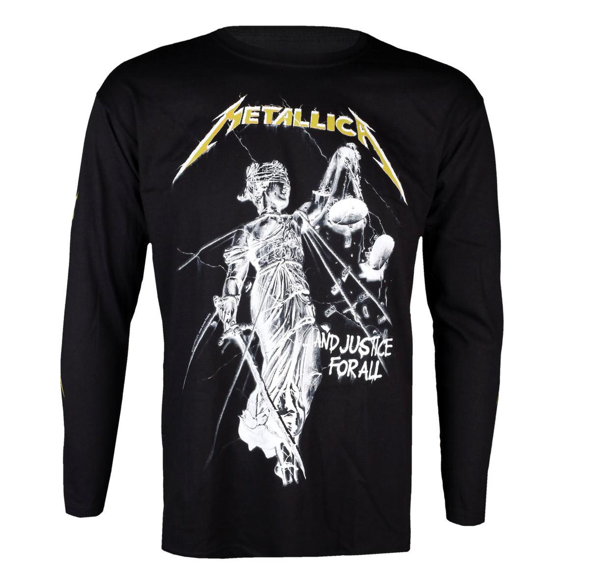 tričko pánske s dlhým rukávom Metallica - And Justice For All - Black - RTMTL LSBAND