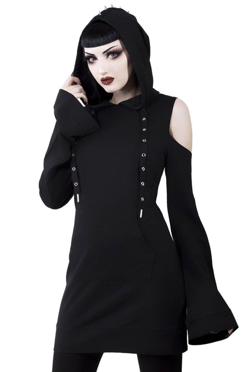 šaty dámske KILLSTAR - Iza Jersey - BLACK - KSRA000405