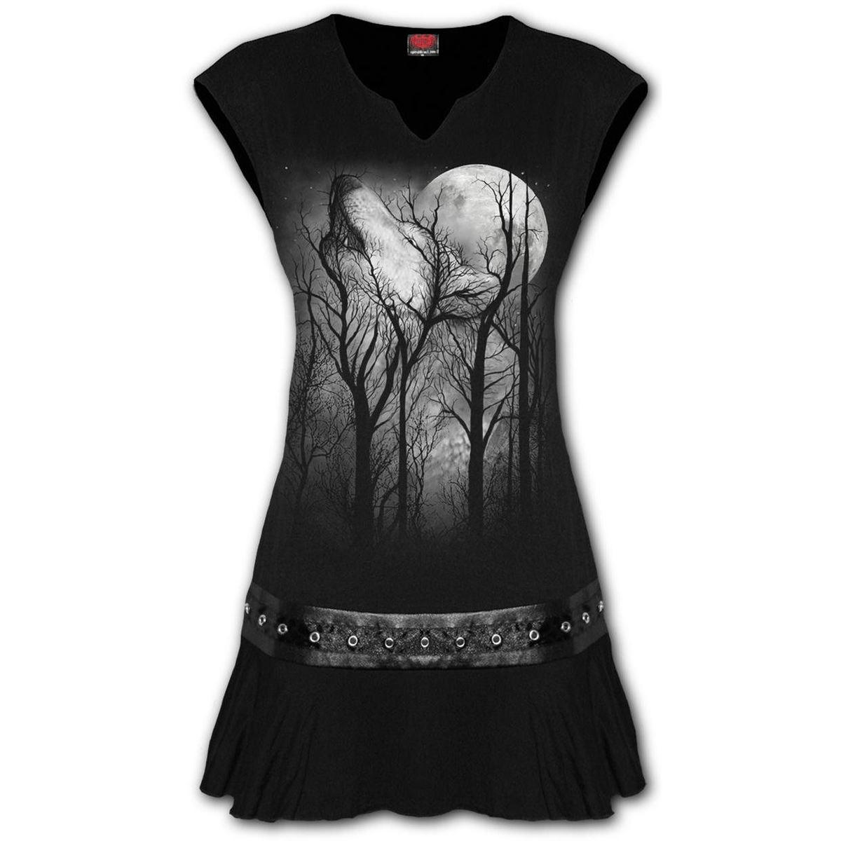 šaty dámske SPIRAL - FOREST WOLF - Black - E030F108