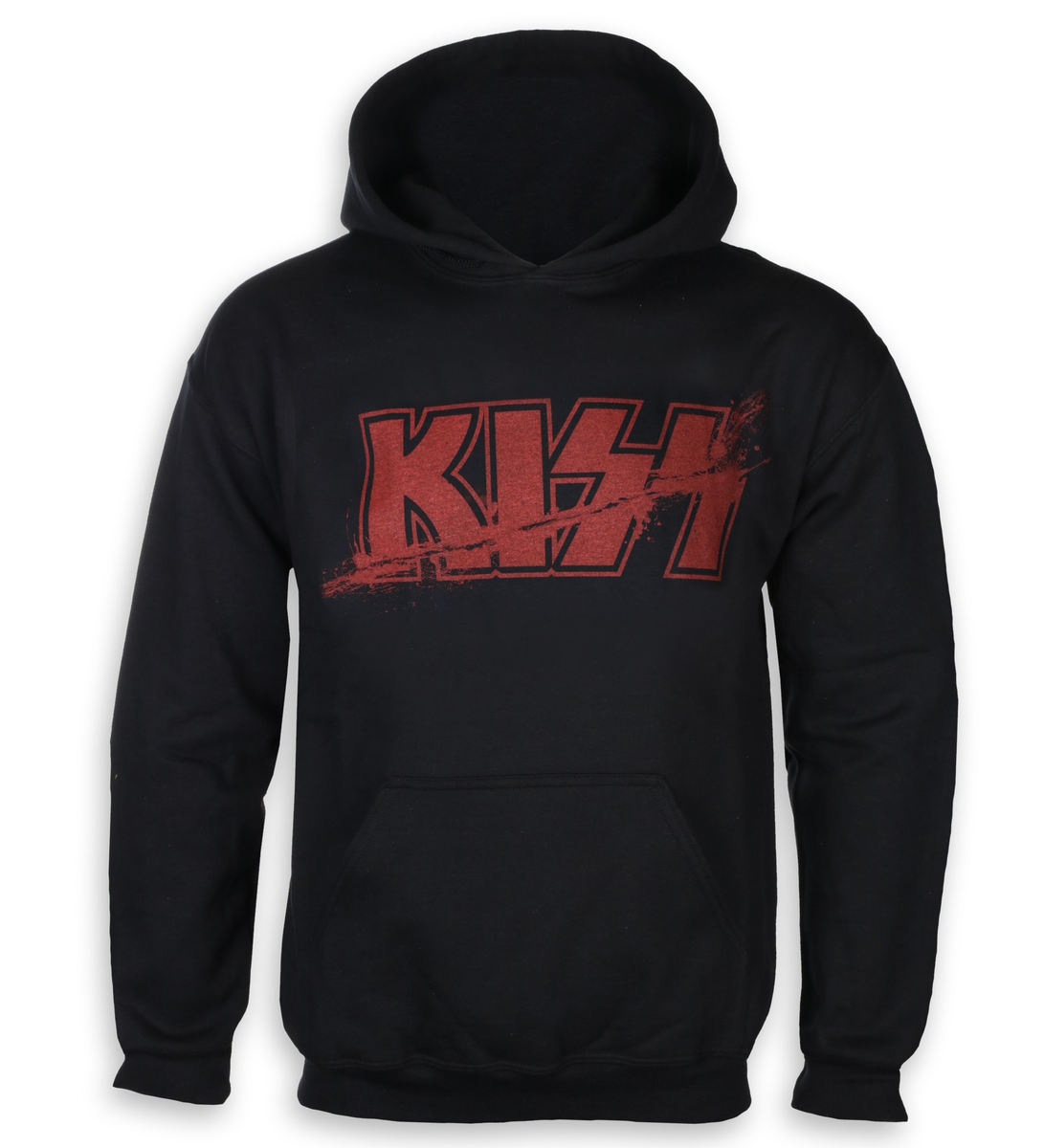 mikina pánska Kiss - Slashed Logo - ROCK OFF - KISSHD01MB