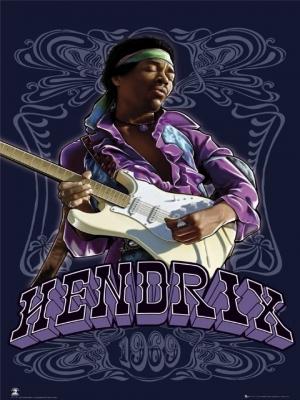 plagát - Jimi Hendrix 1969 - LP1119 - GB posters