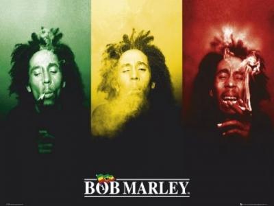 "plagát - Bob Marley ""Flag"" - LP1198 - GB posters"