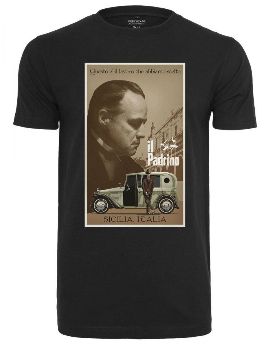 tričko pánske Kmotr - Godfather - Poster - black - MC385