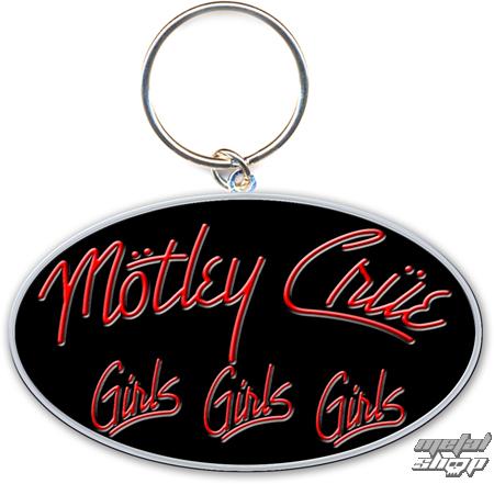 kľúčenka - prívesok Mötley Crüe (Girls, Girls, Girls Logo) - ROCK OFF - MOTKEY08