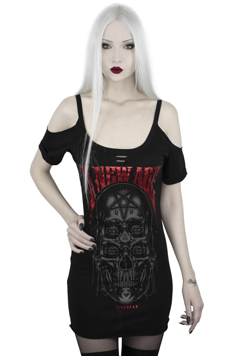 tričko dámske KILLSTAR - New Age Distressed - BLACK - KSRA001843