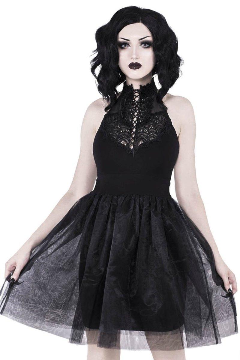 šaty dámske KILLSTAR - NYTE NYMPH PARTY - BLACK - KSRA000163