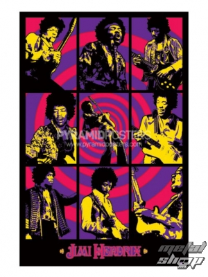 plakát Jimi Hendrix (Purple Haze Montage) - PP30940 - Pyramid Posters