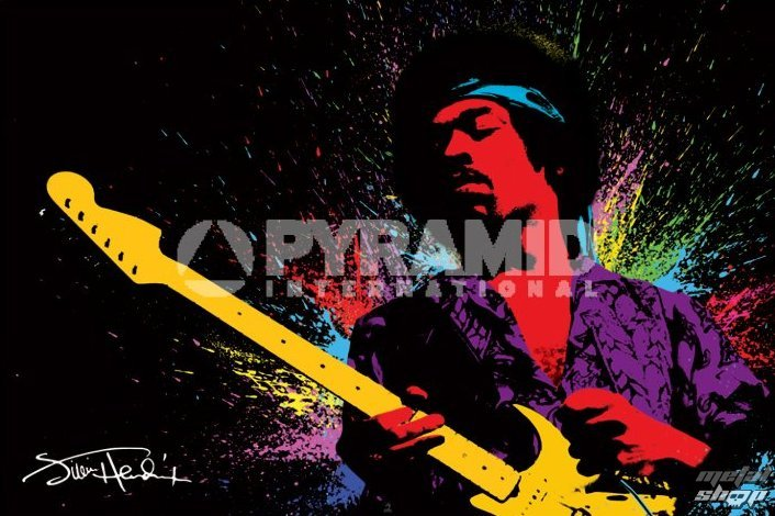 plagát Jimi Hendrix (Paint) - PYRAMID Posters - PP32166