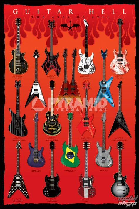 plagát Guitar Hell (The Axes Of Evil) - PYRAMID POSTERS - PP32523