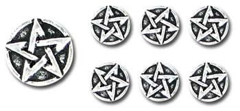 gombíky Pentagram Buttons - sada S6 - Alchemy Gothic
