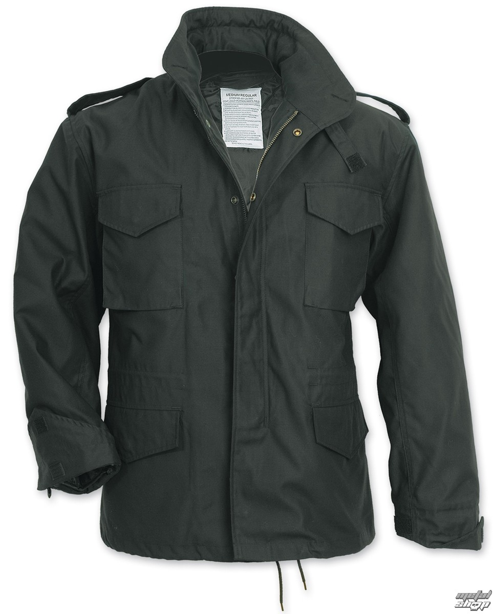 bunda pánska zimný SURPLUS - FIELDJACKET M 65 - Schwarz - 20-3501-93