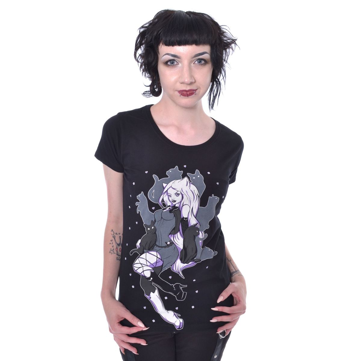 1bc257156 tričko dámske Cupcake cult - SHADOW CAT - BLACK - POI765 - metalshop.sk