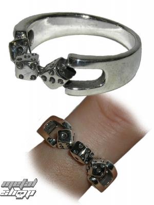 prsteň strieborný- KOCKY 2 - 191 - BR