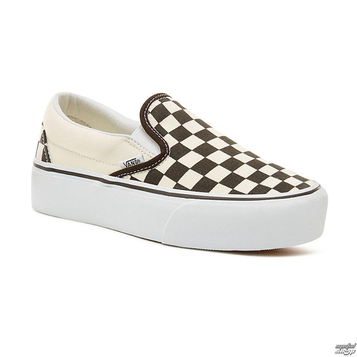 topánky dámske VANS - UA CLASSIC SLIP-ON P Blk WhtCh - V0018EBWW