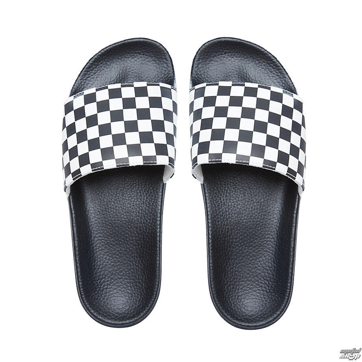 sandále pánske VANS - Slide-On (Checkerboard) - Black/White - V4KIIP9