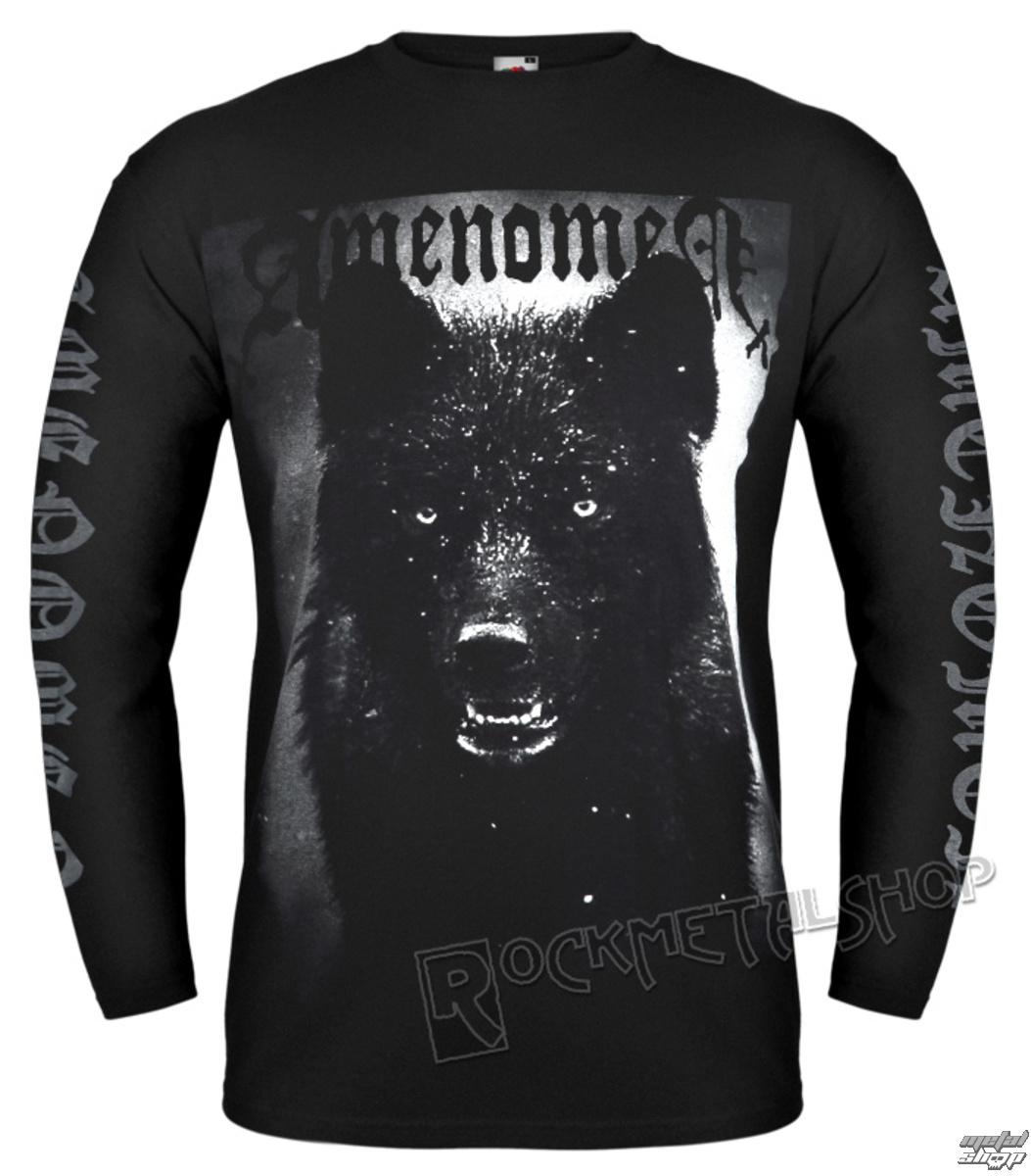 tričko pánske s dlhým rukávom AMENOMEN - BLACK WOLF - OMEN024LO
