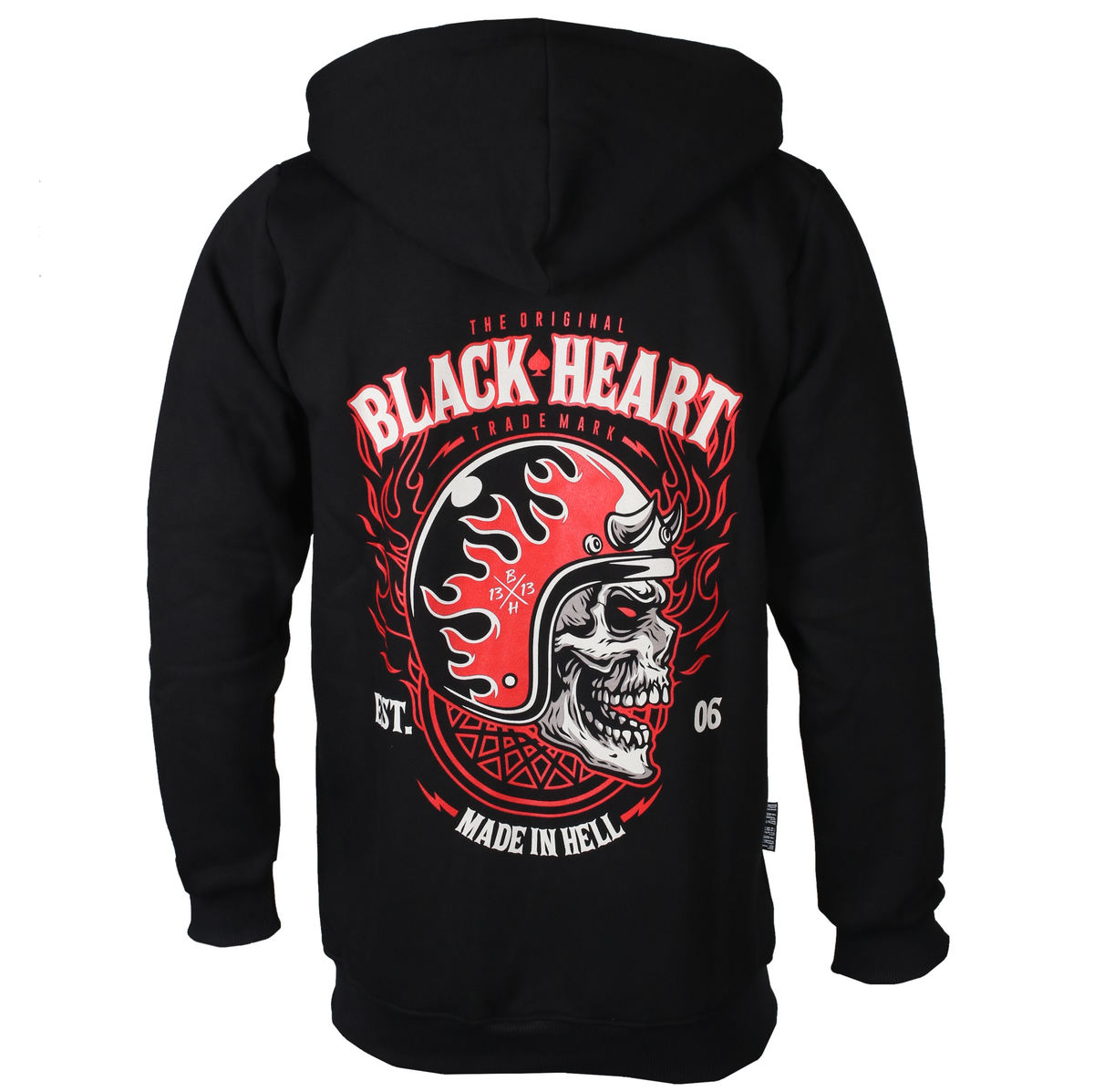 mikina pánska BLACK HEART - HATTER - BLACK - 003-0072-BLK