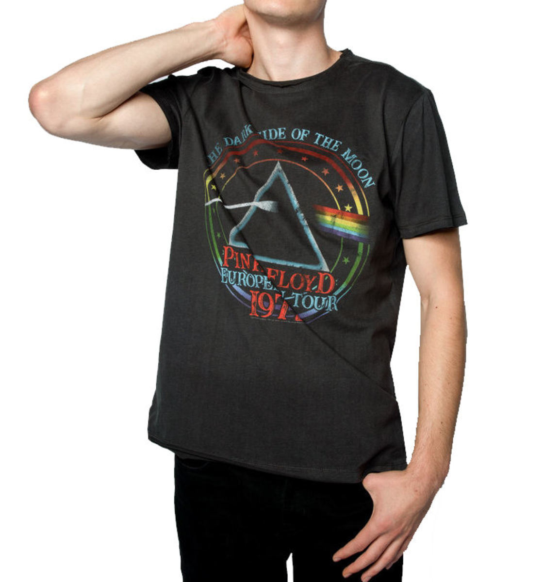 tričko pánske PINK FLOYD - 1972 TOUR - Charcoal - AMPLIFIED - ZAV210A84