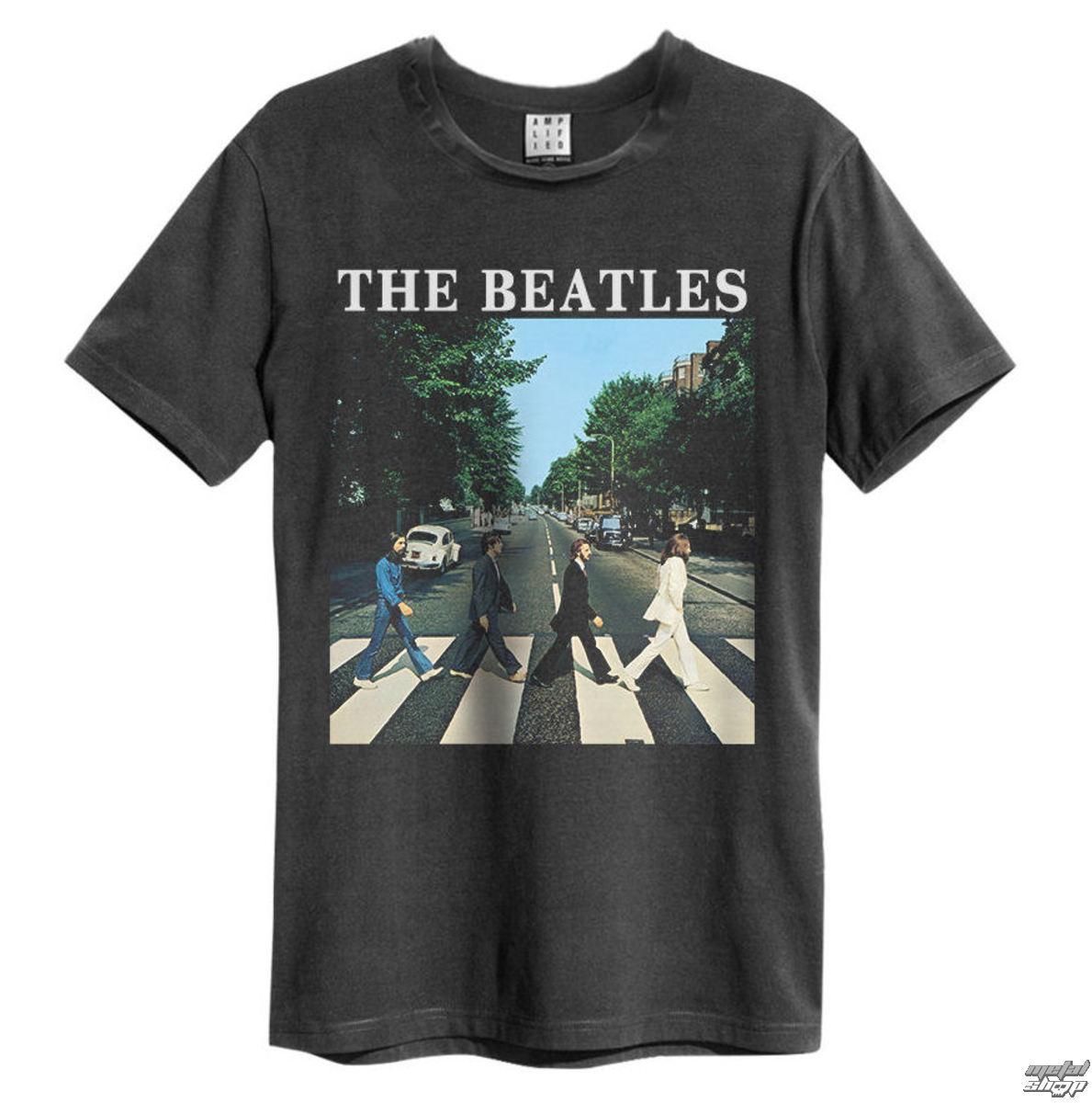 tričko pánske The Beatles - Abbey Road - Charcoal - AMPLIFIED - ZAV210BAB