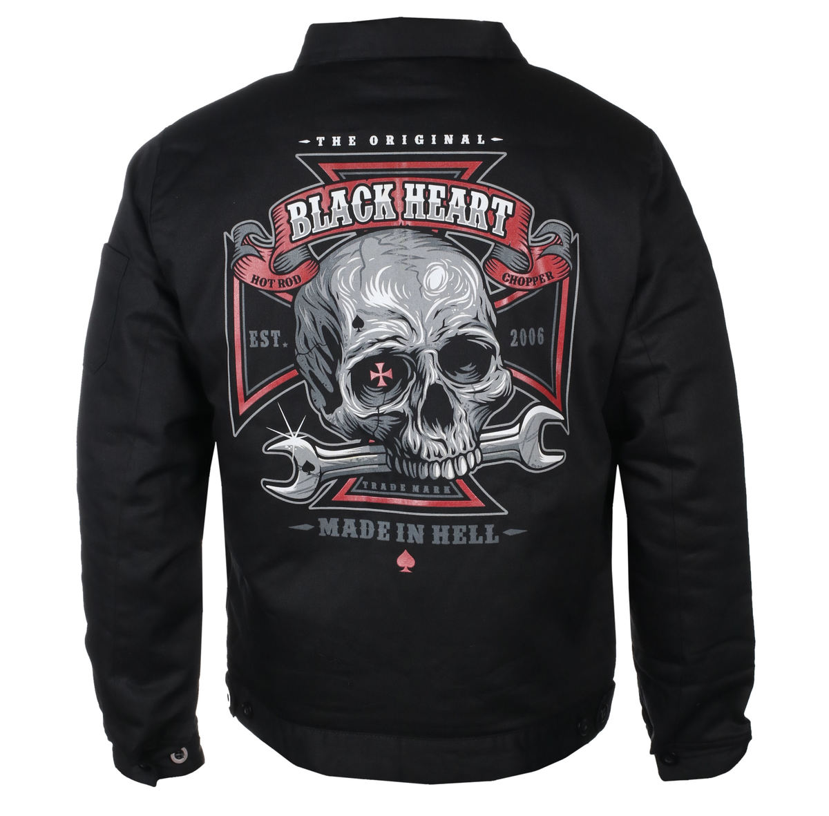 bunda pánska BLACK HEART - REPAIRMAN - BLACK - 006-0017-BLK
