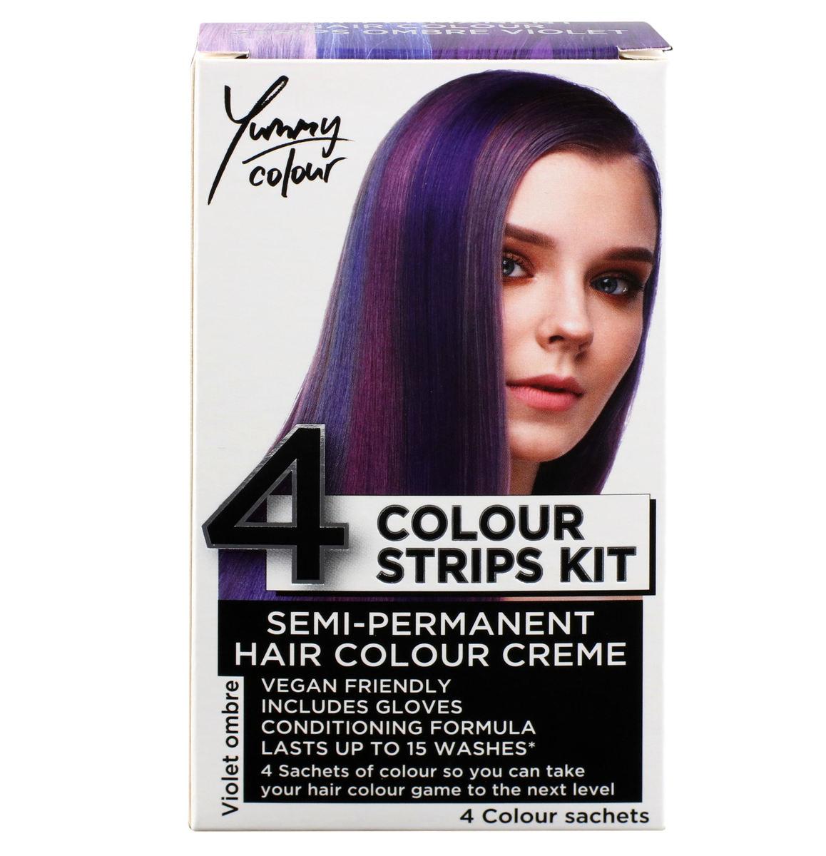 farba na vlasy STAR GAZER - Yummy Colour 4 Color Strips Kit - viol - SGS234Ombr