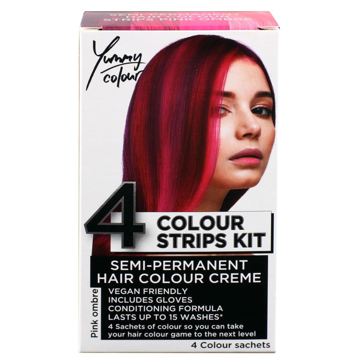 farba na vlasy STAR GAZER - Yummy Colour 4 Color Strips Kit - Pink - SGS234Ombr