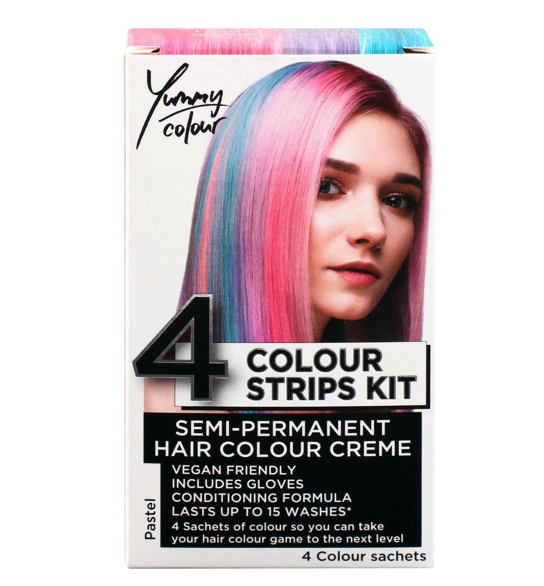 farba na vlasy STAR GAZER - Yummy Colour 4 Colour Strips Kit - Pastel - SGS234
