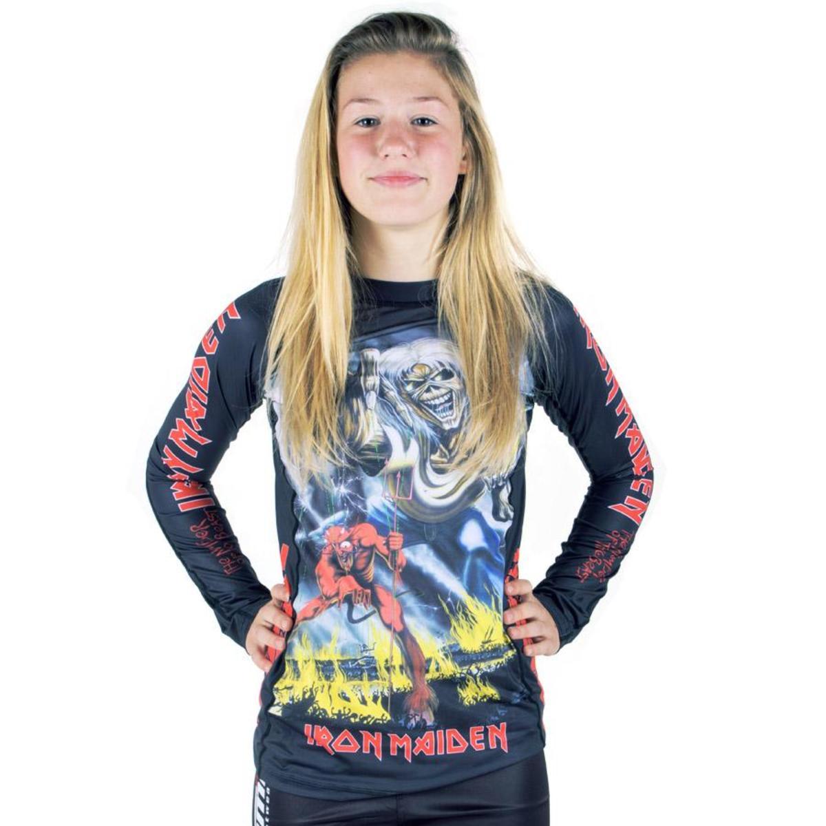 tričko detské s dlhým rukávom (technickej) TATAMI - Iron Maiden - Number of the Beast - Rash Guard -