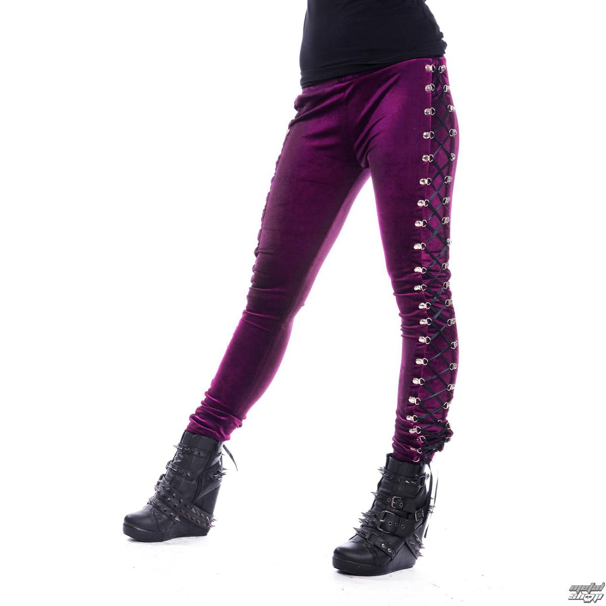 nohavice dámske (legíny) CHEMICAL BLACK - BEETLE - Purple - POI548