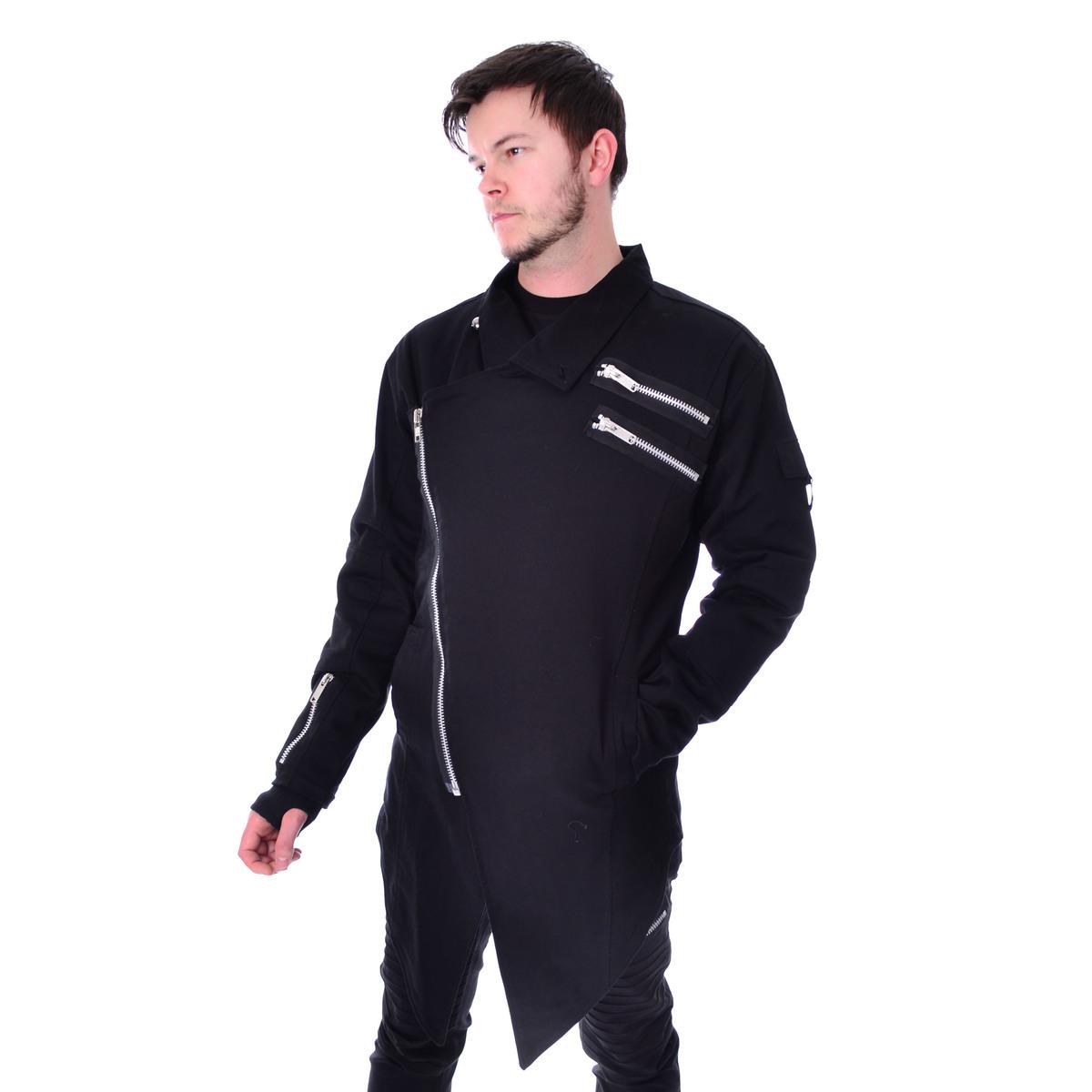 kabát pánsky VIXXSIN - BLAKE - BLACK - POI848