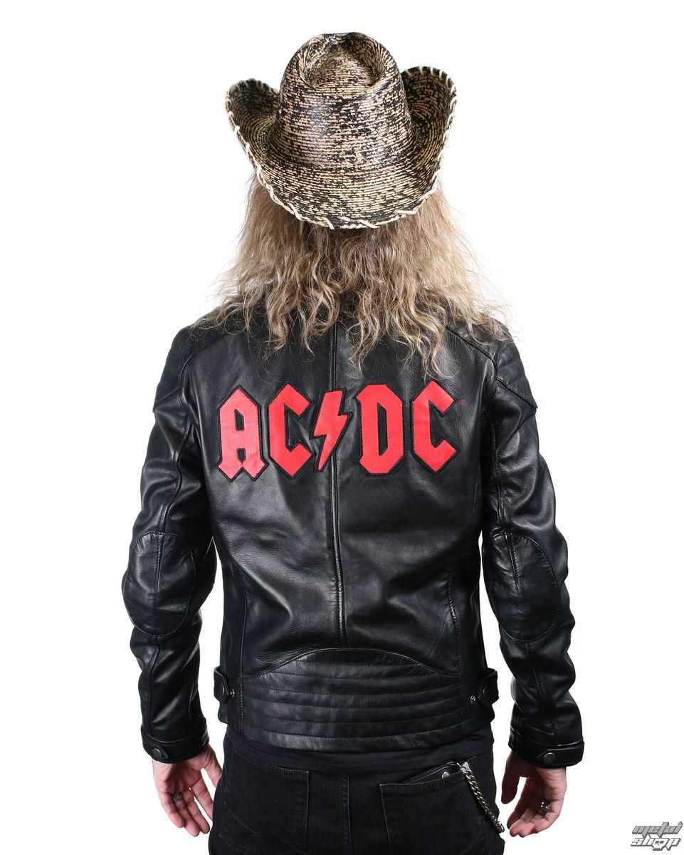 87927d1df bunda pánska kožená AC/DC - LNTC BLACK - AD-17-MSJ-02 - metalshop.sk