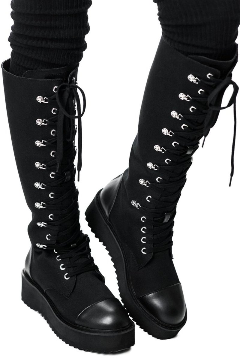topánky dámske KILLSTAR - Despair Combat - BLACK - KSRA002053