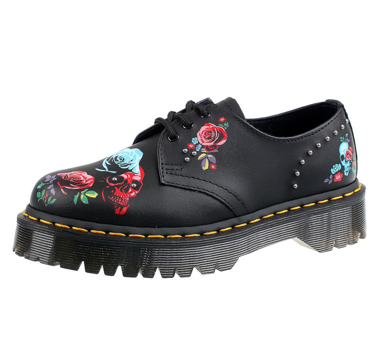 topánky DR.MARTENS - 3 dierkové - PASCAL BEX ROSE BLACK MULTI - DM24422001